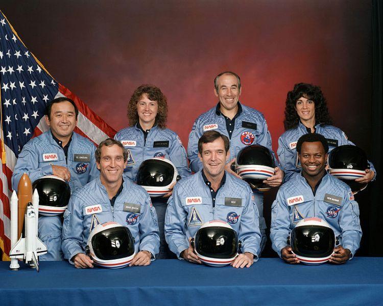 Echipajul ultimei misiuni Challenger - foto preluat de pe ro.wikipedia.org