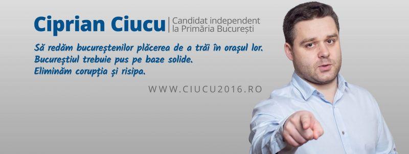 Ciprian Ciucu este candidat independent, susținut de partidul M10, la Primăria Municipiului București - foto: facebook.com