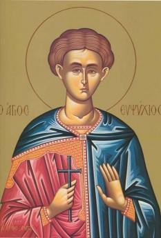 Sfântul Mucenic Eupsihie din Cezareea Capadociei († 362). Prăznuirea sa de către Biserica Ortodoxă se face la data de 9 aprilie - foto: doxologia.ro