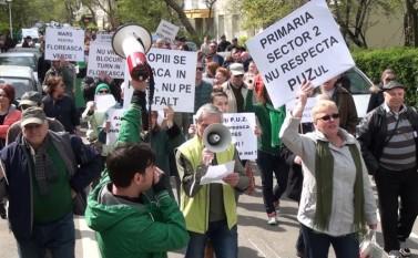 Marş în cartierul Floreasca, 2 aprilie 2016 - foto: Epoch Times