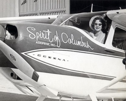 "Geraldine ""Jerrie"" Fredritz Mock (November 22, 1925 – September 30, 2014) was the first woman to fly solo around the world, which she did in 1964 - foto: airfactsjournal.com"
