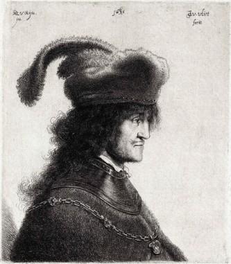 """Gheorghe Rákóczi I de Felsővadász (în maghiară I. Rákóczi György, în germană Georg I. Rákóczi, cunoscut și ca Gheorghe Rákóczi cel bătrân (n. 1593, la Szerencs – d. 1648) a fost principe al Transilvaniei între anii 1630-1648. În timpul domniei sale, ca și în timpul domniei principilor Gabriel Bethlen sau Gheorghe Rákóczi al II-lea, principatul Transilvaniei aflat sub suzeranitate otomană a cunoscut o epocă de înflorire economică și de afirmare politică și culturală, întărindu-se puterea centrală. A promovat o politica absolutistă care a fost dublată de tendința de răspândire a calvinismului. Conform ideilor Calvinismului a sprijinit folosirea limbii materne în liturgie și în învățământ, nu numai în cazul comunității maghiare ci și în cazul românilor și sașilor. La îndemnul lui și pe cheltuielile Principatului s-a tipărit în tipografia domnească de la Alba Iulia prima traducere completă a Noului Testament în limba română, Noul Testament de la Bălgrad, cunoscut și sub denumirea de Biblia Rakocziana. De numele lui se leagă înființarea în 1669 a sistemului educațional elementar în limba română, bazat pe școli primare (""""népiskola""""), după ce soția lui, Zsuzsanna Lórántffy a înființat prima școală românească (medie) la Făgăraș (în 1657) - in imagine, Gheorghe Rákóczi I (1593-1648) (gravură de Rembrandt și Jan Gillisz van Vliet) - foto: ro.wikipedia.org"""