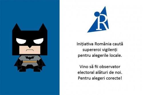 Inițiativa România cauta supereroi vigilenți pentru alegerile locale - foto: facebook.com