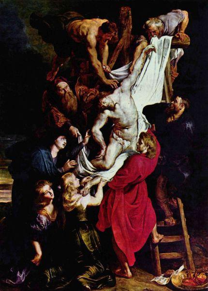 """""""Coborârea de pe Cruce"""", (Rubens, Catedrala din Antwerpen) - foto preluat de pe ro.wikipedia.org"""
