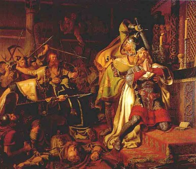 Knut al IV-lea (1042 - 10 iulie 1086) cunoscut mai târziu sub numele de Knut cel Sfânt, a fost regele Danemarcei din 1080 până în 1086. Knut a fost un rege ambițios care a căutat să întărească monarhia daneză, susținută cu devotament de Biserica Romano-Catolică. Ucis de rebeli în 1086, el a fost primul danez care a fost canonizat, fiind recunoscut de Biserica Romano-Catolică ca patron spiritual al Danemarcei în 1101, sub numele de San Canuto - foto: ro.wikipedia.org
