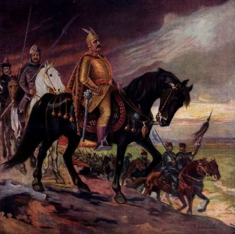 Krum a fost un Han protobulgar în perioada: 796/803 - 814. În timpul domniei, sale teritoriul Bulgariei dunărene s-a dublat, având granițele de la Dunărea mijlocie la Nipru și de la Odrin la Munții Tatra - in imagine, Krum în fața trupelor sale. Un desen din 1917 - foto: ro.wikipedia.org