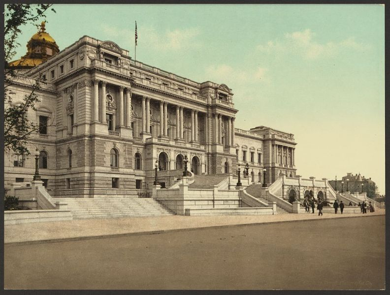 The West façade of the Library of Congress in 1898 - foto: en.wikipedia.org