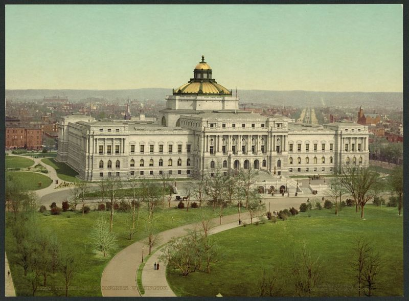 The Library of Congress in 1898 - foto: en.wikipedia.org