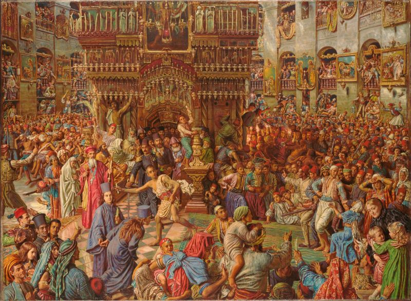 The Miracle of the Holy Fire, by William Holman Hunt - foto preluat de pe en.wikipedia.org