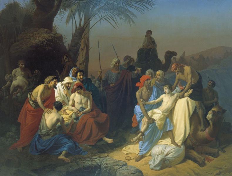 Joseph sold into slavery by his brothers (Konstantin Flavitsky, 1855) - foto preluat de pe en.wikipedia.org
