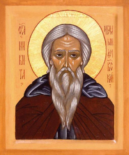 Cuviosul părintele nostru Nichita Mărturisitorul a trăit în secolul al IX-lea, fiind un mare apărător al cultului icoanelor. A fost egumen al mănăstirii din Midichia (în Bitinia, Asia Mică); a fost întemnițat și a suferit pentru că s-a împotrivit iconoclasmului. Biserica îl prăznuiește pe 3 aprilie - foto: doxologia.ro