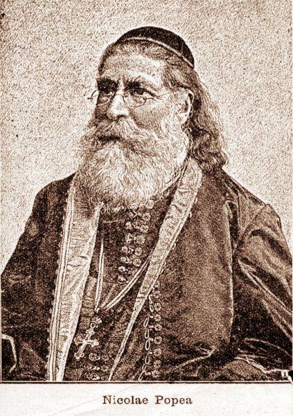 Nicolae (Neagoe) Popea (n. 17 februarie 1826 (S.N. 29 februarie), Satulung, Brașov - d. 26 iulie 1908 (S.N. 8 august), Caransebeș) a fost un episcop, istoric și cărturar român, membru titular al Academiei Române din 1899, primul presedinte al Partidului Național Român (1881-1882) - foto: ziarullumina.ro