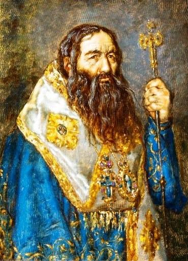 Sfântul Ierarh Pahomie de la Gledin (1671-1724) a fost stareț al Mănăstirii Neamț, devenind apoi episcop al Romanului între 1704-1714. S-a retras din scaunul episcopal întemeind Schitul Pocrov (Acoperământul Maicii Domnului). Apoi a pribegit prin Transilvania și în cele din urmă a ajuns la Pecerskaia Lavra din Kiev. În anul 2007 a fost proslăvit de Biserica Ortodoxă Română, prăznuirea sa făcându-se pe 14 aprilie - foto: ro.orthodoxwiki.org