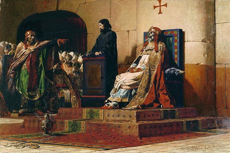 "Jean-Paul Laurens, Le Pape Formose et Étienne VII (""Papa Formosus şi Ştefan al VII-lea]""), 1870 - foto: ro.wikipedia.org"