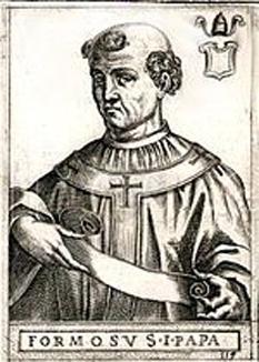 """Papa Formosus a fost papă al Romei între 891 și 896. A fost deshumat în vederea unui faimos proces macabru numit și """"conciliul cadavrului"""" - foto: cersipamantromanesc.wordpress.com"""