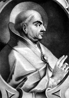 Papa Martin I (d. 656, Chersones, Crimeea), a fost papă al Romei (649-653), martir, sfânt. S-a născut la Todi, în Umbria. A intrat în rândul clericilor romani, iar în anul 649 a fost ales papă. În același an a întrunit un conciliu la Lateran, în care a fost condamnată erezia monotelită, care afirma că în persoana lui Isus Christos nu există decât voința divină dar nu ceea umană, ceea ce punea în dubiu natura umană a lui Isus. Arestat în anul 653 din ordinul împăratului Constant (care susținea cauza ereticilor) și dus la Constantinopol, a avut multe de suferit, înscenându-i-se un proces de înaltă trădare. Papa Martin I a fost condamnat la moarte dar ulterior pedeapsa a fost comutată și a fost exilat în Chersones (Crimeea), unde a decedat în 655. Scrisorile papei Martin I reflectă tristețea abandonării și decepția față de clerul roman, care, între timp, sub presiunea împăratului Constant, a ales un succesor. Sărbătorit în Biserica Catolică la 13 aprilie - foto: ro.wikipedia.org