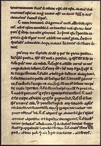 """Pierre Abélard (sau Abailard) (1079 – 21 aprilie 1142) a fost filosof, logician, teolog francez. A studiat cu nominalistul Roscelin iar la Paris a fost elevul realistului Guillaume de Champeaux. Printre controversele purtate de Abélard se numără și aceea cu Fulbert, a cărui nepoată Héloïse a fost elevă, iubită și soție secretă a lui Abélard. Din anul 1118 se retrage la mănăstire. Abélard a jucat un rol important în cearta universaliilor. S-a opus teoriilor realiste dar totodată a avut o atitudine critică și față de teoriile nominaliste despre universal - in imagine, Pagină din Abélard, """"Apologia contra Bernardum"""" - manuscris din secolul XII - foto: ro.wikipedia.org"""