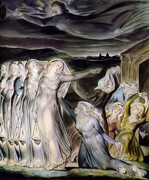 The Parable of the Wise and Foolish Virgins (1822) by William Blake, Tate Gallery - foto preluat de pe en.wikipedia.org