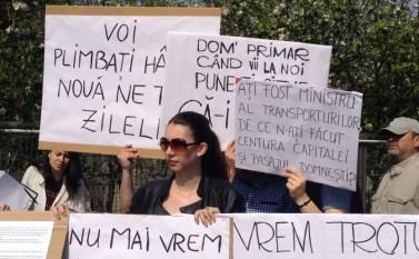 Protest în Prelungirea Ghencea, 9 aprilie 2016 - foto: epochtimes-romania.com