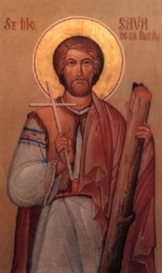"""Sfântul mucenic Sava de la Buzău, cunoscut și sub numele Sava Gotul, s-a născut în anul 334 (aproximativ), în Dacia, în zona deluroasă a Subcarpaților de Curbură, în apropiere de râul Mousaios (Buzăul de azi). Viața și martirizarea sa sunt descrise în """"Scrisoarea Bisericii lui Dumnezeu din Goția către Biserica lui Dumnezeu care se găsește în Capadocia și către toate Bisericile locale ale Sfintei Biserici universale"""", adresată Sfântului Ierarh Vasile cel Mare. Biserica Ortodoxă Română îl prăznuiește pe data de 12 aprilie - foto: ro.orthodoxwiki.org"""