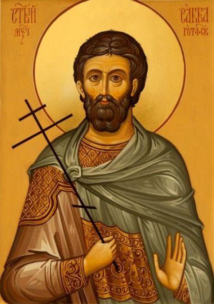Sfântul mucenic Sava de la Buzău, cunoscut și sub numele Sava Gotul, s-a născut în anul 334 (aproximativ), în Dacia, în zona deluroasă a Subcarpaților de Curbură, în apropiere de râul Mousaios (Buzăul de azi). Biserica Ortodoxă Română îl prăznuiește pe data de 12 aprilie - foto preluat de pe doxologia.ro