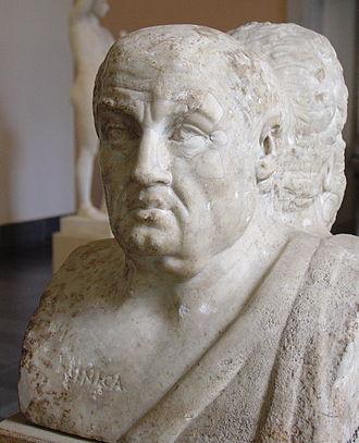 Lucius Annaeus Seneca (sau mai simplu Seneca sau Seneca cel Tânăr, n. cca. 4 î.Hr. – d. 65) a fost un filosof stoic roman, preceptor al împăratului Nero - in imagine, Seneca cel Tânăr (Antikensammlung Berlin) - foto: ro.wikipedia.org