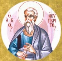 Sfântul, slăvitul şi întru tot lăudatul Apostol Asincrit se numără printre Cei Şaptezeci de Apostoli. El a fost episcop de Hiracania în Asia. Apostolul Pavel îl menţionează în Epistola sa către Romani (16,14). Biserica îl pomeneşte pe Sfântul Asincrit în 8 aprilie -  foto: doxologia.ro