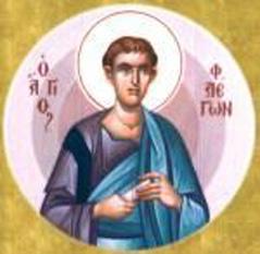 Sfântul, slăvitul şi mult lăudatul Apostol Flegon se numără printre Cei Şaptezeci de Apostoli. El a fost episcop la Maraton în Tracia. El este menţionat în Romani 16:14 iar prăznuirea lui în Biserica Ortodoxă se face în 8 aprilie - foto: doxologia.ro