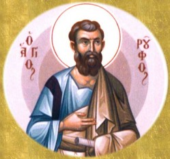 Sfântul, slăvitul şi mult lăudatul Apostol Ruf (sau Roufos) este numărat printre Cei Şaptezeci de Apostoli. El a fost episcop în Teba, Grecia şi este menţionat în Epistola Sf. Ap. Pavel către Romani 16, 13. Prăznuirea sa în Biserica Ortodoxă se face în 8 aprilie - foto: doxologia.ro