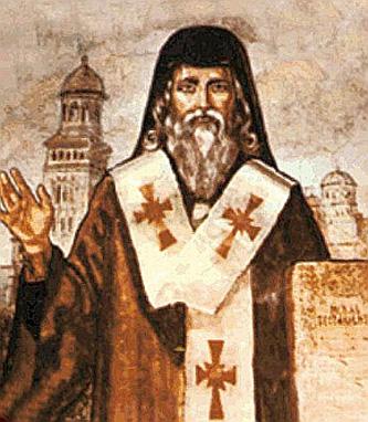 """Sfântul Ierarh Simion Ștefan (sau Simeon Ștefan) a fost mitropolit al Transilvaniei între anii 1643-1656. De asemenea, a fost un vestit cărturar al acelor vremuri, printre altele fiind traducător și editor al """"Noului Testament de la Bălgrad"""" (1648). A fost unul dintre cei mai mari părinți duhovnicești români ai veacului al XVII-lea. Pentru faptele sale sfinte Biserica Ortodoxă Română l-a proslăvit ca sfânt (canonizat) la 21 iulie 2011. Prăznuirea lui se face pe data de 24 aprilie - foto: ro.orthodoxwiki.org"""