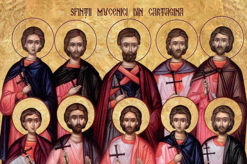 Sf. Mc. Terentie, Pompie, African, Maxim şi Dima - foto preluat de pe ziarullumina.ro