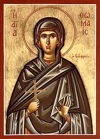 Sfânta muceniță Tomaida din Alexandria a trăit probabil în secolul al VI-lea în Alexandria (Egipt) și a primit cununa muceniciei la vârsta de 15 ani. Prăznuirea sa se face în Biserica Ortodoxă pe 14 aprilie - foto preluat de pe www.crestinortodox.ro