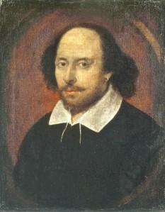 """William Shakespeare (n. 23 aprilie 1564 - d. 23 aprilie 1616) a fost un dramaturg și poet englez, considerat cel mai mare scriitor al literaturii de limba engleză. El este adesea numit poet național al Angliei și """"Poet din Avon"""" (""""Bard of Avon"""") sau """"Lebăda de pe Avon"""" (""""The Swan of Avon""""). Lucrările sale au supraviețuit, incluzând și unele realizate în colaborare, opera sa fiind alcătuită din aproape 38 de piese de teatru, 154 de sonete, 2 lungi poeme narative, precum și alte multe poezii - in imagine, William Shakespeare Portretul Chandos, National Portrait Gallery, Londra - foto: ro.wikipedia.org"""