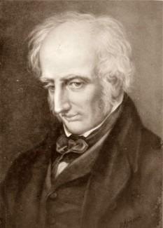 """William Wordsworth (n. 7 aprilie 1770, Cockermouth, Cumberland, Lake District - d. 23 aprilie 1850, Rydal Mount) a fost un poet englez din prima perioadă a romantismului. Împreună cu Coleridge și Southey aparține de așa zisă """"Școală a lacurilor"""", Wordsworth fiind cel mai vârstnic dintre poeții acestui grup - foto: ro.wikipedia.org"""
