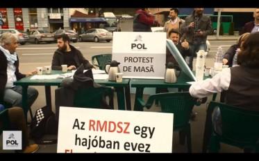 Protestul POL împotriva liderilor Primăriei Tîrgu-Mureș (31 martie 2016) - foto (captura): youtube.com