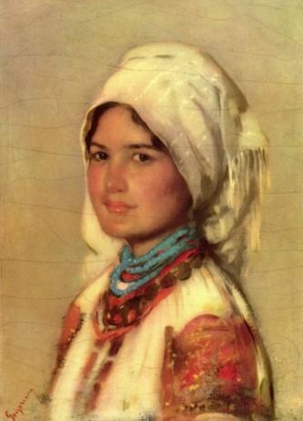 """Nicolae Grigorescu, , """"Ţărancă din Muscel"""" (1874) - foto: ro.wikipedia.org"""