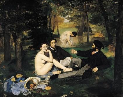 """Édouard Manet - """"Dejunul pe iarbă"""", 1863 - foto: ro.wikipedia.org"""