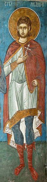 Sfântul Mucenic Acachie. Prăznuirea sa de către Biserica Ortodoxă se face la data de 7 mai - foto: doxologia.ro