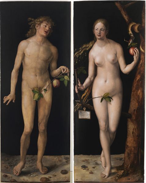 Albrecht Dürer, Adam şi Eva (1507), Museo del Prado, Madrid -  foto: ro.wikipedia.org