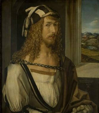 Albrecht Dürer (n. 21 mai 1471, Nürnberg - d. 6 aprilie 1528, Nürnberg) a fost un pictor german, creator de gravuri și teoretician al artei, una din personalitățile de seamă ale istoriei universale a artei - in imagine, Albrecht Dürer, autoportret (1498), Museo del Prado, Madrid - foto: ro.wikipedia.org
