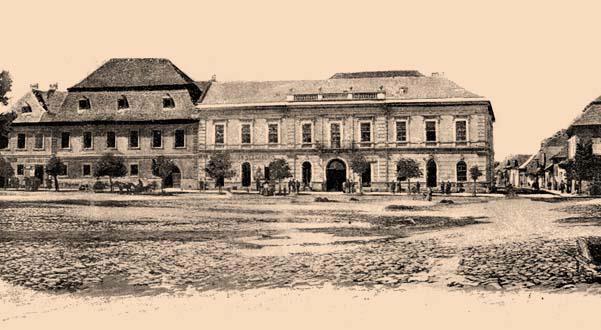 Baia Mare - Piața Centrală în anul 1890 - foto: ro.wikipedia.org