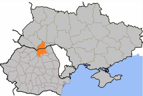 Bucovina suprapusă pe granițele actuale ale României și Ucrainei - foto: ro.wikipedia.org