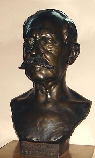 Carol Storck (n. 10 mai 1854, București - d. 1926) a fost un sculptor român, fiul sculptorului Karl Storck și frate al lui Frederic Storck - in imagine, Autoportretul lui Carol Storck (1926) expus la Muzeul de Artă Frederic Storck și Cecilia Cuțescu-Storck - foto: ro.wikipedia.org