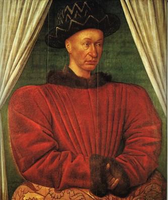 Carol al VII-lea (n. 22 februarie 1403 – d. 22 iulie 1461), numit Victoriosul (franceză le Victorieux) a fost rege al Franței din 1422 până la moartea sa - in imagine, Portret al lui Carol al VII-lea, de Jean Fouquet, tempera pe lemn, Muzeul Luvru, Paris, c. 1445–1450 - foto: ro.wikipedia.org