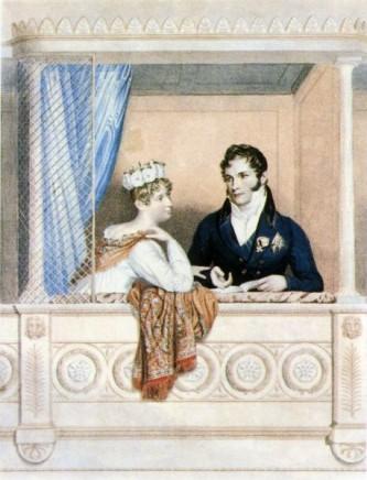 Charlotte Augusta și soțul ei, Prințul Leopold de Saxa-Coburg-Saalfied, de George Dawe - foto: ro.wikipedia.org