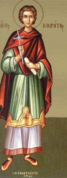 Sfântul mucenic Codrat (lat. Quadratus) a trăit în cetatea Nicomidiei în zilele împăraților Deciu și Valerian (249-251 d.Hr.), și a mărturisit în timpul unei persecuții împreună cu alți creștini. Prăznuirea sa de către Biserica Ortodoxă se face la data de 7 mai - foto: doxologia.ro