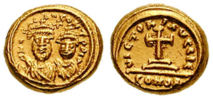 Heraclius Konstantin (3 mai 612 - 20 aprilie sau 24 mai/26 mai 641), cunoscut sub numele de Constantin III, a fost împărat bizantin în 641, fiul lui Heraclius și fratele lui Heraklonas. Constantin a fost numit co-împărat pe 22 ianuarie 613 (9 luni). În 629 s-a căsătorit cu vara sa de gradul doi, Gregoria, cu care a avut doi copii: Constans și Theodosiu. În 641, la moartea lui Heraclius, a devenit împărat împreună cu fratele său mai mic, Herakonas. El a dat mai mult de 2 milioane de solidi lui Valentinus Aršakuni, un adjutant al unui nobil important, ca să fie distribuiți soldaților, pentru a asigura fiului său tronul. După patru luni a murit de tuberculoză, lăsându-l pe Heraklonas unic împărat. La scurt timp, Constans, fiul său, a devenit împărat - in imagine, Heraclius I și fiul său Constantin al III-lea - foto: ro.wikipedia.org