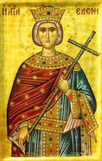 Sfânta drept-credincioasă Împărăteasa Elena, Întocmai cu Apostolii (c. 248 – c. 329), a fost mama Sfântului Împărat Constantin cel Mare. Prăznuirea ei se face în 21 mai, odată cu fiul ei - foto: ro.orthodoxwiki.org