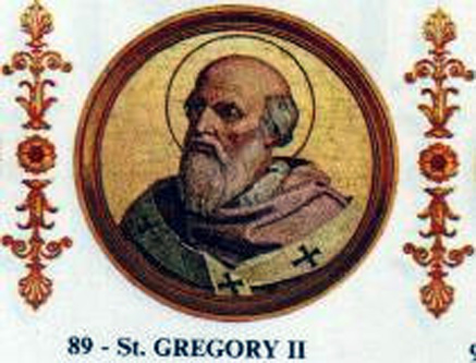 Papa Grigore al II-lea a fost un papă al Romei. El s-a născut în Roma, fiind fiul lui Marcellus din familia Savelli. În timpul papei Sergius I. a fost bibliotecar, la data de 19 mai 715 a fost ales papă. Evenimente mai importante din perioada pontificatului sau se poate aminti însărcinarea lui Bonifacius să misioneze sprijinit de franci în Germania, pe care în anul 722 îl numește episcop. În perioada acea existau conflicte politice și religioase cu Bizanțul. După moartea sa el va fi declarat sfânt - foto: ro.wikipedia.org