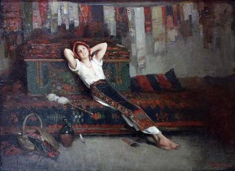 """Nicolae Grigorescu, """"Fata cu zestrea ei""""- foto: ro.wikipedia.org"""